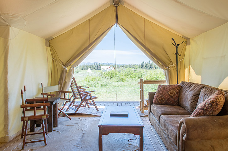 Yellowstone Under Canvas Tent Interior