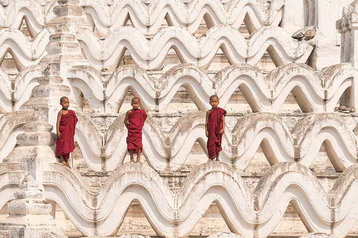 Young Monks in Mingun