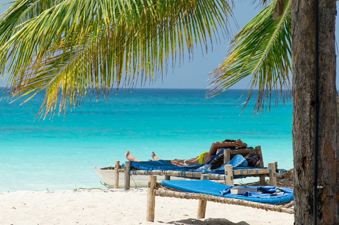 Zanzibar beach sunbed