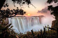 Zimbabwe-Victoria-Falls-Sunset