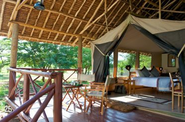 Ziwani Tented Camp Private Deck