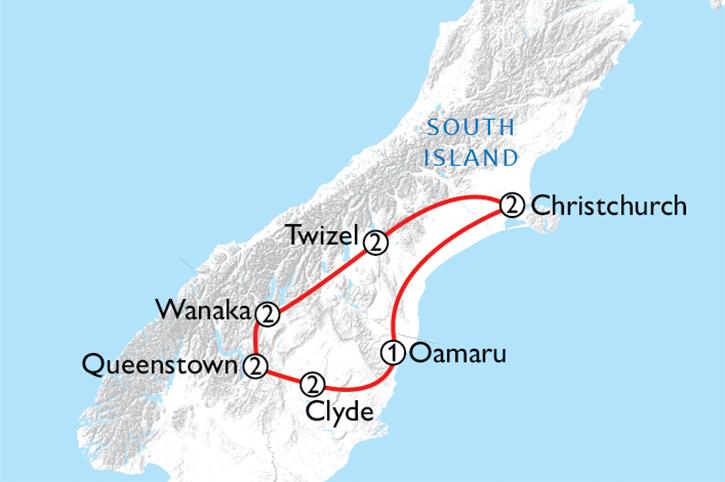 Bike 'n' Hike South Map