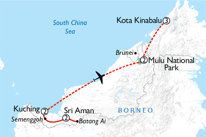 Borneo Discovery Map