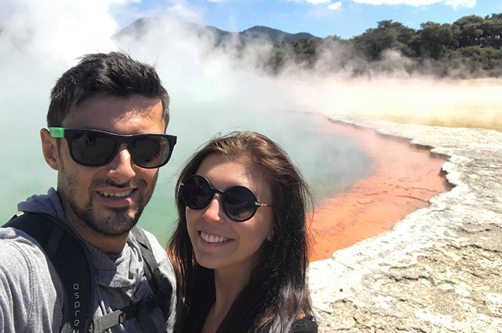 Alice and Mark in Rotorua New Zealand
