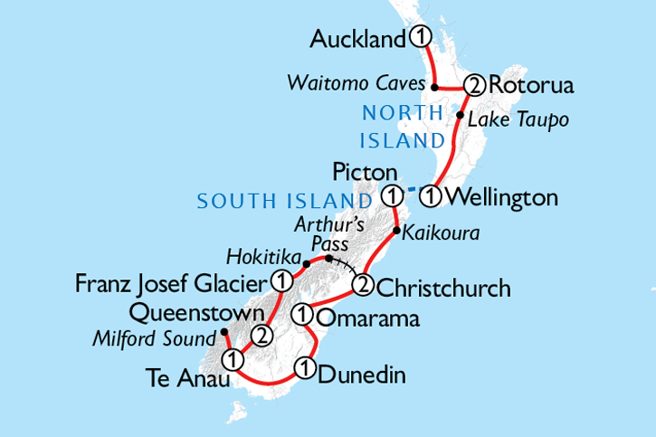 New Zealand Marvel Map