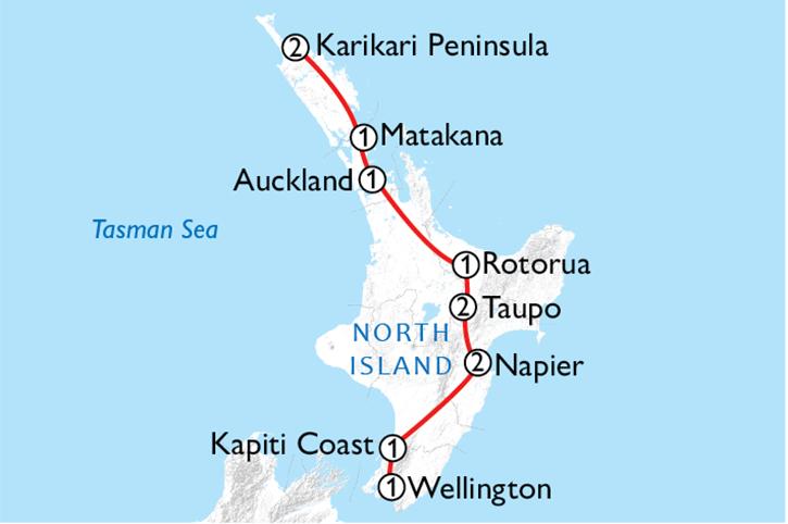 North Island Golf Trail Map