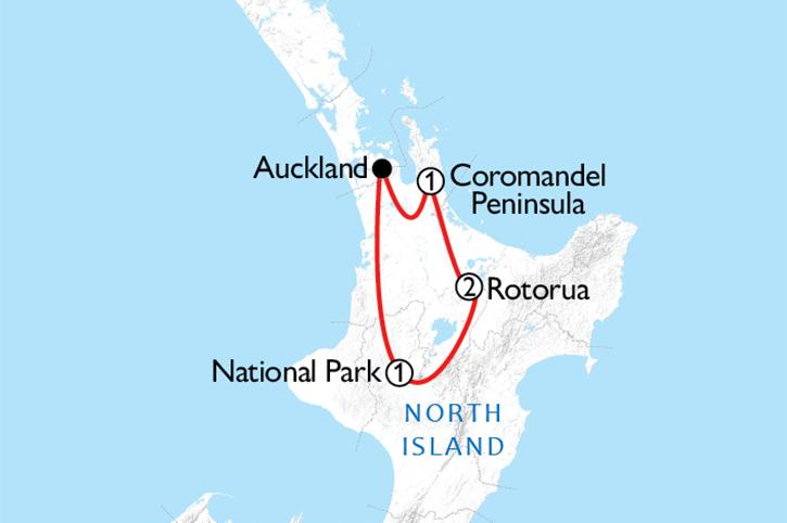 North Island Natural Wonders Map