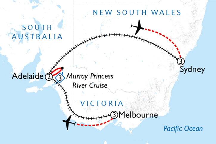 Southern Rail and River Cruise 2 Week