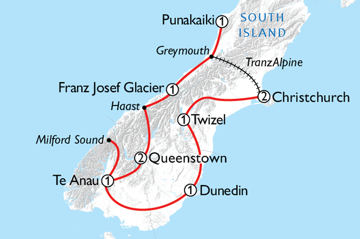 Southern Spectacular Map