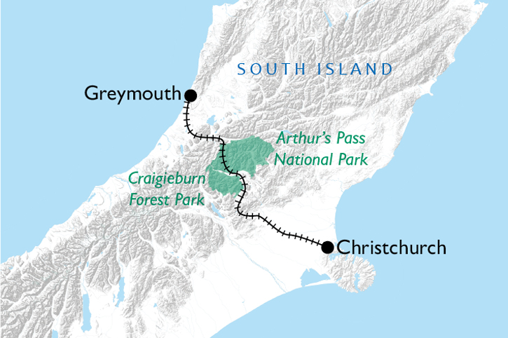 TranzAlpine Map