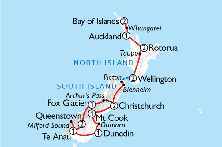 Ultimate New Zealand Explorer Map