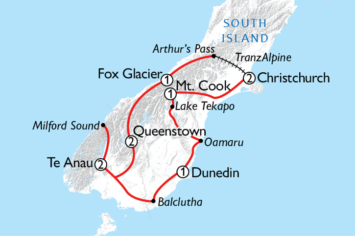 Ultimate South Island Escape Map